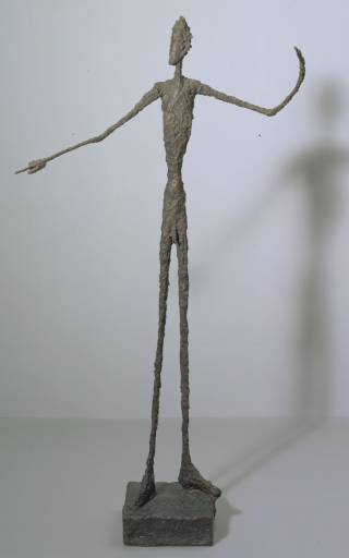 A.Giacometti. Man pointing. (1947). Tate Gallery, London.  L�immagine scarnificata (1)